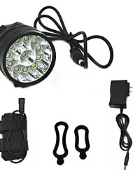 cheap -ANOWL Bike Light 8000 lm LED LED 12 Emitters 3 Mode with Battery, Charger & Adapter Easy Carrying Cycling / Bike