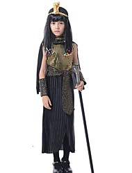 cheap -Queen Costume Kid's Christmas Halloween Festival / Holiday Terylene Carnival Costumes Patchwork / Cloak / Headwear