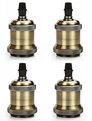 cheap -4 pcs E26/E27 Screw Light Bulb Socket Edison Retro Pendant Lamp Holder Without Cord And Switch