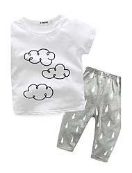 cheap -Baby Boys' Indoor Print Long Sleeve Clothing Set White