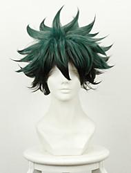 cheap -My Hero Academy Battle For All / Boku no Hero Academia Midoriya Izuku Deku Cosplay Wigs Men's 14 inch Heat Resistant Fiber Anime Wig