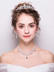 abordables -Femme Mode Des boucles d'oreilles Bijoux Blanc Pour Mariage Soirée