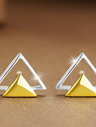 cheap -Women's Stud Earrings Geometrical Ladies Personalized Fashion Sterling Silver Earrings Jewelry Yellow For Casual Office & Career