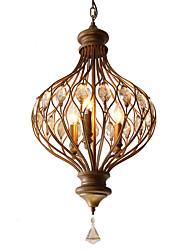 cheap -3-Light 38 cm Crystal / Bulb Included Pendant Light Metal Painted Finishes Chic & Modern 110-120V / 220-240V
