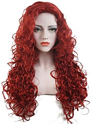 cheap -Synthetic Wig Curly Curly Wig Long Red Synthetic Hair Women's Red StrongBeauty
