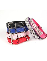 cheap -Dog Collar Strobe / Flashing Flower / Floral PU Leather Red / Blue / Pink