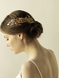 cheap -Brass / Rhinestone / Alloy Hair Combs / Flowers with 1 Wedding / Anniversary / Birthday Headpiece