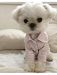 cheap -Dog Pajamas Winter Dog Clothes Black Light Blue White Costume Silk British Casual / Daily S M L XL XXL
