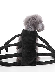 cheap -Cat Dog Costume Winter Dog Clothes Black Costume Terylene Solid Colored Party Cosplay Halloween S M L
