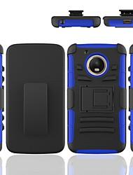 Недорогие -Кейс для Назначение Moto G / Motorola Moto G5 Защита от удара / со стендом Кейс на заднюю панель броня Твердый ПК
