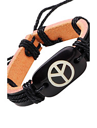 cheap -Men's Leather Bracelet woven Leather Bracelet Jewelry Black For Casual Stage