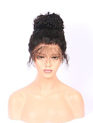 cheap -Human Hair Glueless Full Lace Full Lace Wig style Malaysian Hair Curly Wig 130% Density with Baby Hair Natural Hairline 100% Virgin 100% Hand Tied Women's Long Human Hair Lace Wig ELVA HAIR