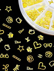 cheap -new 3d gold metal nail art sticker design tiny slice diy nail accessories