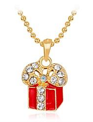 Недорогие -Жен. Ожерелья с подвесками Мода Стразы Сплав Цвет радуги Ожерелье Бижутерия Назначение Рождество Новый год