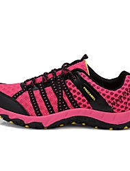 cheap -LEIBINDI Women's Hiking Shoes Casual Shoes Mountaineer Shoes Breathable Anti-Slip Quick Dry Stretchy Stylish Low-Top Running Hiking Climbing Autumn / Fall Winter Black Fuchsia Navy Blue / Round Toe