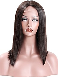 cheap -Remy Human Hair 360 Frontal Wig style Brazilian Hair Yaki Wig 150% 180% Density with Baby Hair Natural Hairline 100% Virgin Unprocessed Women's Short Medium Length Long Human Hair Lace Wig Premierwigs