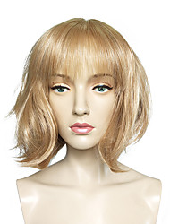 cheap -Synthetic Wig Straight Straight Bob Wig Blonde Short Light Blonde Synthetic Hair Women's Blonde