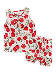 cheap -Baby Girls' Floral Casual / Daily Print Sleeveless Clothing Set White / Toddler