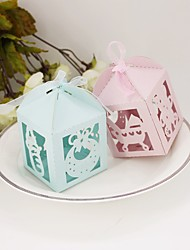 cheap -Round Square Cubic Card Paper Favor Holder with Printing Favor Boxes - 12
