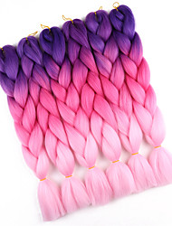 cheap -Braiding Hair Crochet Jumbo 100% kanekalon hair 10pcs Hair Braids Long Ombre Braiding Hair