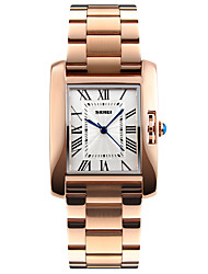 cheap -SKMEI Women's Ladies Wrist Watch Gold Watch Square Watch Japanese Quartz Stainless Steel Silver / Rose Gold 30 m Water Resistant / Waterproof Cool Analog Luxury Fashion Elegant Minimalist - Silver