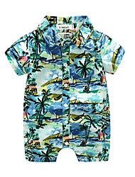 cheap -Baby Boys' Print Short Sleeve Overall & Jumpsuit Blue