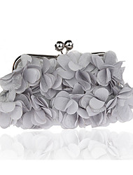 cheap -Women's Flower Polyester Evening Bag Wedding Bags Silver / Red / Purple