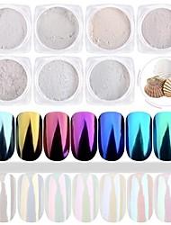 cheap -1set 7pcs Acrylic Powder / Powder / Glitter Powder Elegant & Luxurious / Mirror Effect / Sparkle & Shine Nail Art Design