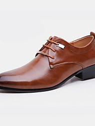 cheap -Men's Oxfords Formal Shoes Business Party & Evening Office & Career PU Black Brown Fall Spring / Rivet / EU40