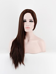 cheap -Synthetic Wig Straight Straight Wig Long Brown Synthetic Hair Women's Brown OUO Hair