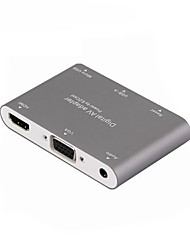 cheap -USB 3.0 Converter, USB 3.0 to HDMI 1.4 VGA 3.5mm Converter Female - Female 1080P 10 Gbps