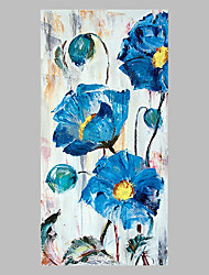 cheap -Hand-Painted Floral/Botanical Vertical Panoramic,Artistic Abstract Outdoor One Panel Canvas Oil Painting For Home Decoration