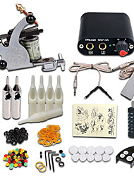 cheap -Tattoo Machine Starter Kit - 1 pcs Tattoo Machines with 1 x 5 ml tattoo inks Mini power supply 1 cast iron machine liner & shader