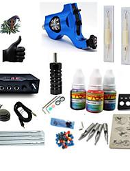 cheap -BaseKey Tattoo Machine Starter Kit - 1 pcs Tattoo Machines with 1 x 5 ml tattoo inks, Professional LCD power supply 1 rotary machine liner & shader