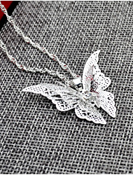 cheap -Women's Pendant Necklace Butterfly Animal Alloy Silver Necklace Jewelry For Wedding Birthday