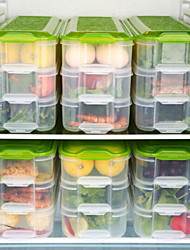 cheap -3 layer crisper kitchen storage box refrigerator frozen food storage box household storage container lid egg box