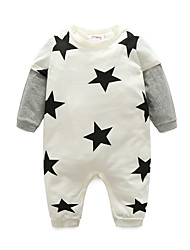 cheap -Baby Girls' Print Long Sleeve Cotton Overall & Jumpsuit White
