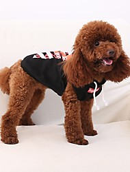 cheap -Cat Pets Dog Hoodie Winter Dog Clothes Breathability Black White Red Costume Cotton British Stylish Casual / Daily Mix & Match Sets XS S M L XL XXL