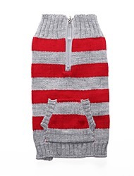 cheap -Cat Dog Coat Sweater Christmas Winter Dog Clothes Red Blue Costume Spandex Cotton / Linen Blend Stripes Party Cosplay Casual / Daily XXS XS S M L XL