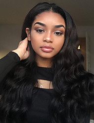 cheap -Remy Human Hair Glueless Lace Front Full Lace Lace Front Wig style Malaysian Hair Body Wave Wig 180% Density 100% Hand Tied Women's Long Human Hair Lace Wig