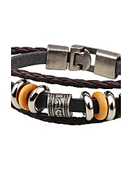 cheap -Men's Leather Bracelet Anchor Punk Leather Bracelet Jewelry Black / Coffee For Casual Stage