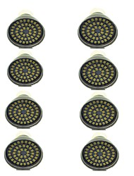 cheap -8pcs 3 W LED Spotlight 500 lm GU10 48 LED Beads SMD 2835 Decorative Warm White Cold White 12 V