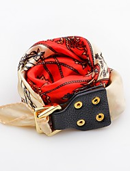 cheap -Women's Leather Bracelet Flower Button Fashion Leather Bracelet Jewelry Red / Blue / Pink For Daily Casual
