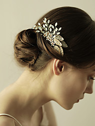 cheap -Rhinestone / Alloy Hair Combs / Flowers with 1 Wedding / Anniversary / Birthday Headpiece