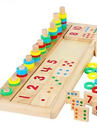 cheap -Montessori Teaching Tool Educational Toy Wooden Blocks Math Toy Wood Blocks Number Toys Building Bricks for interest development Develop Creativity Number DIY Building Toys Boys' Toy Gift / Kid's