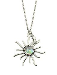 cheap -Women's Pendant Necklace Flower Basic Fashion Shell Alloy Pink Light Blue Light Green Necklace Jewelry For Daily Casual