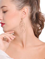 cheap -Women's Drop Earrings Hoop Earrings Personalized Oversized Earrings Jewelry Gold / Silver For Daily Club