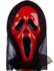 cheap -Halloween Mask Practical Joke Gadget Halloween Prop Masquerade Mask Plastic Novelty Ghost Scary Scream Movie Character Ghost Horror Adults' Unisex Boys' Girls'