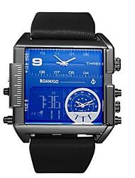 cheap -Men's Sport Watch Digital Watch Quartz Leather Genuine Leather Black / Orange / Brown 30 m Water Resistant / Waterproof Calendar / date / day Chronograph Analog - Digital Casual Fashion Elegant -