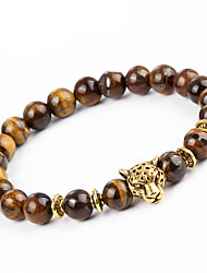 cheap -Men's Women's Onyx Hawks Eye Stone Bead Bracelet Bracelet Chakra Natural equilibrio Stone Bracelet Jewelry Brown For Party Gift
